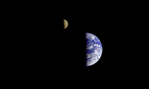 Making the Earth and Moon lecture image with Rebecca A. Fischer