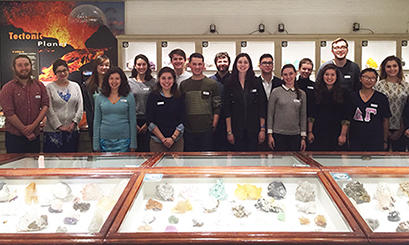 Student Board in the Minerals Gallery in the Harvard Museum of Natural History