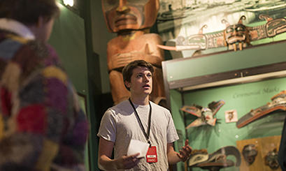 Student Tour Guide in the Peabody Museum of Archaeology & Ethnology