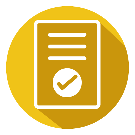Assessment icon yellow