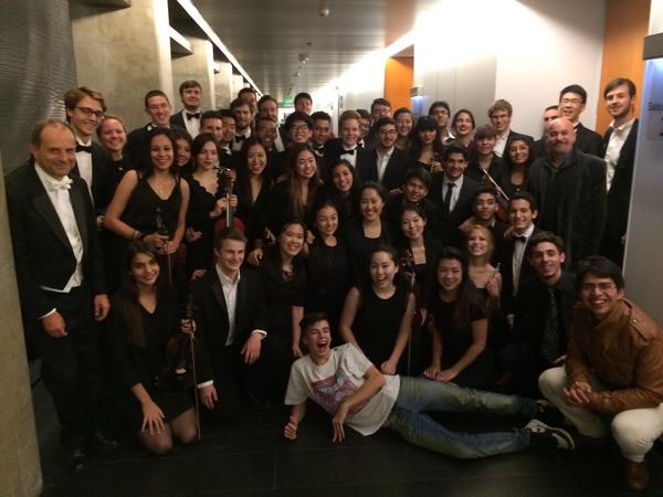 The musicians after the Buenos Aires concert at the CCK