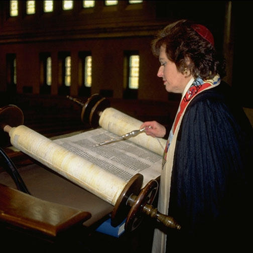 Woman reading the Torah