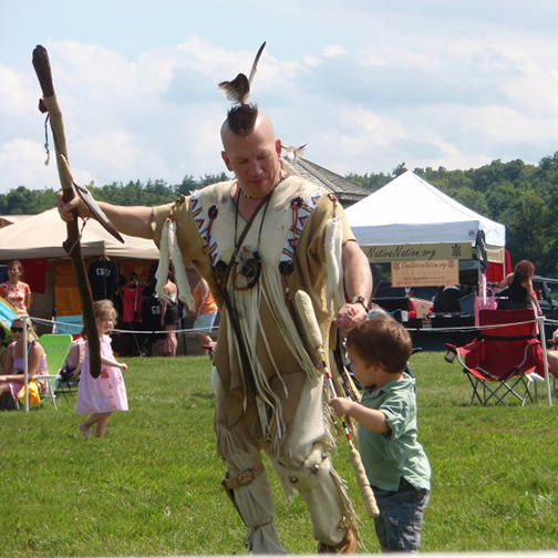 Participants Celebrate with Tribal Dancing at the Preservation of Indian Culture Pow Wow