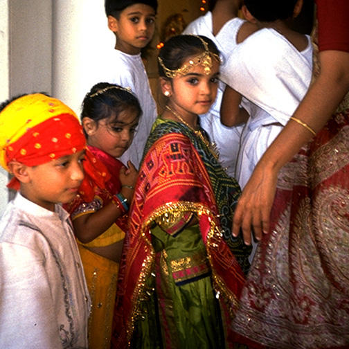 Young Jains at Sapna Ceremony in Fremont, California