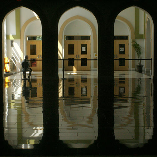 A View From the Prayer Space in ISBCC Mosque