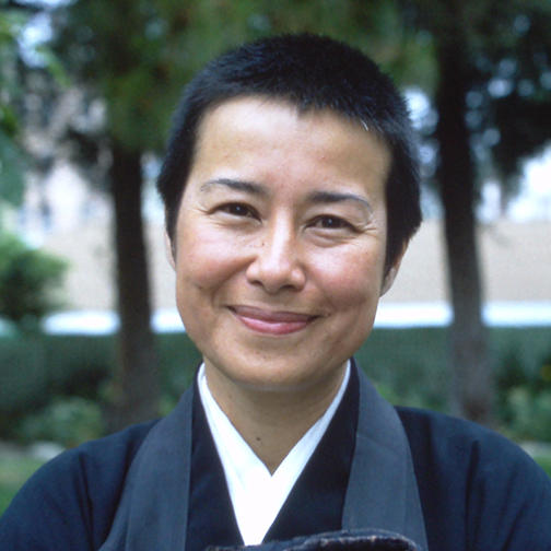Smiling Buddhist Nun