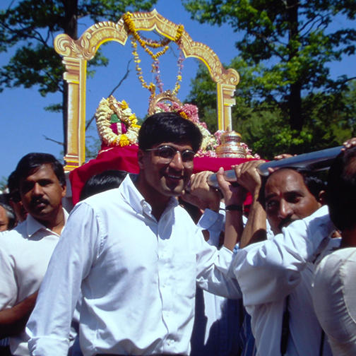 Festival at Sri Lakshmi Temple in Andover, Massachusetts