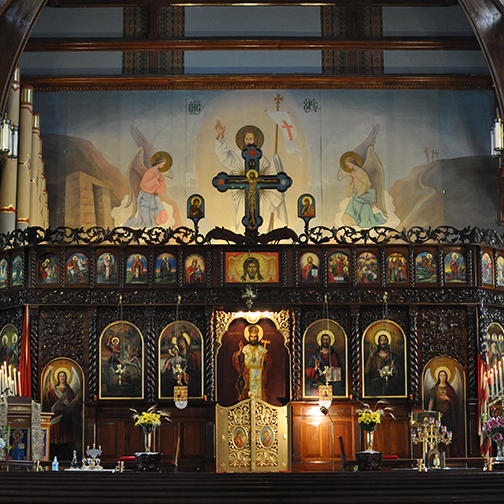 Iconostasis of St. George's Albanian Orthodox Cathedral