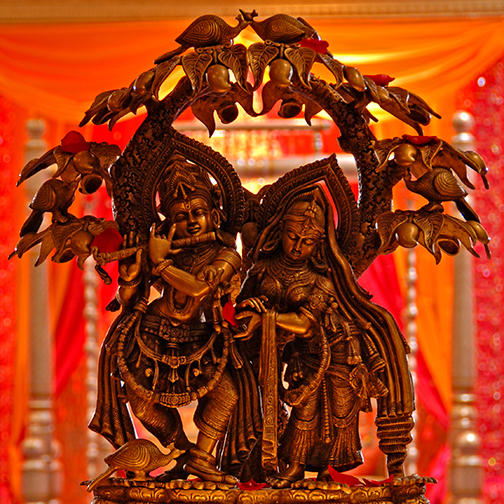 Statue of Radha and Krishna