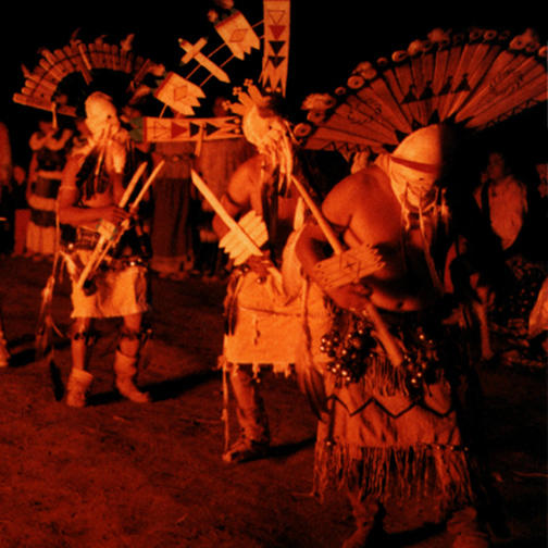 Ganns Dance after the Sunrise Dance Ceremony in White River, Arizona