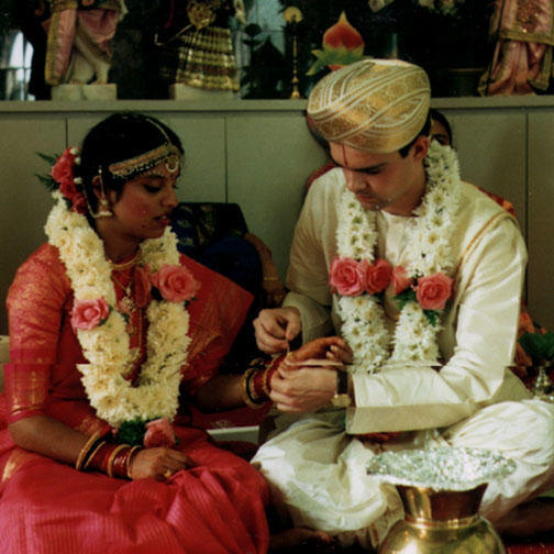 Wedding Ceremony at Hindu Mandir in Minneapolis, Minnesota
