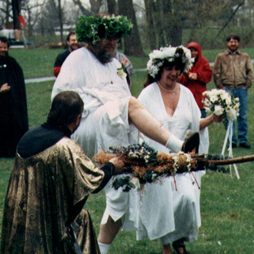 Jumping the Besom, Final Moment of a Handfasting (Pagan Wedding Ceremony)