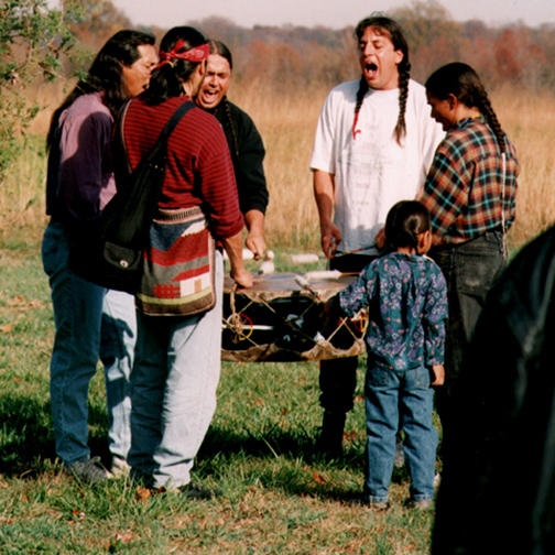 Singing and Drumming at the Feast of the Dead Near Washington, DC