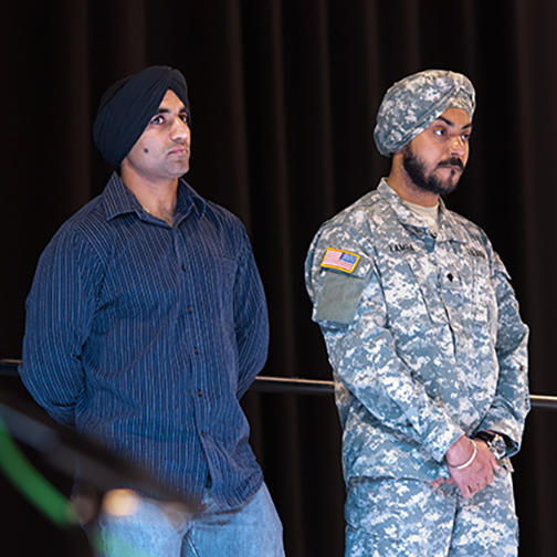 Sikh Members of the US Military Being Honored
