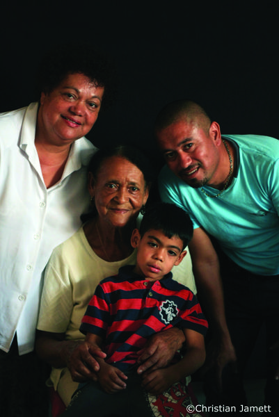 A family portrait, Cristian Báez Lazcano on right.