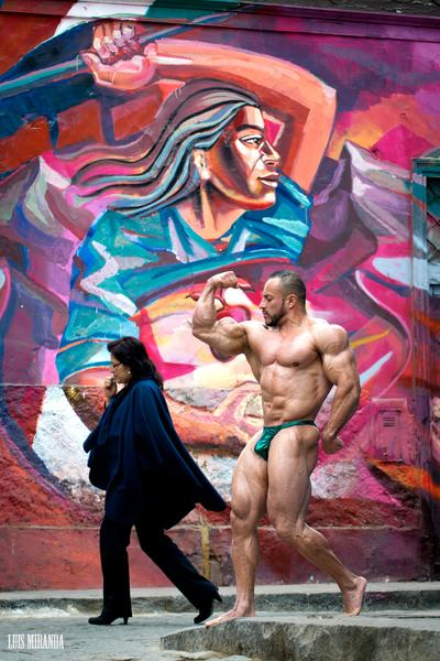 man and mural