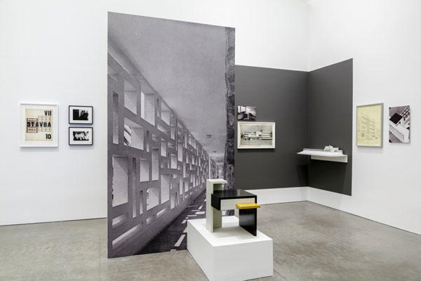 HOTEL NORD-SUD 1932-34: Design and Correspondence Installation view from Institute of Contemporary Art, Boston, Foster Prize 201