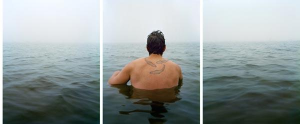 David Hilliard photograph 2012 (triptych, 24 x 60 inches, Archival Pigment Print)