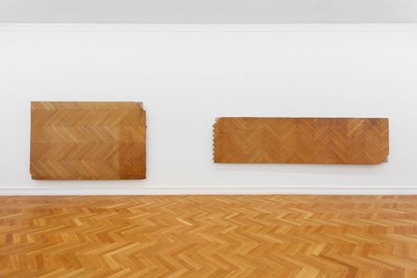 Virginia Overton, Kunsthalle Bern, 2014. Installation view. Photo credit: Gunnar Meier.