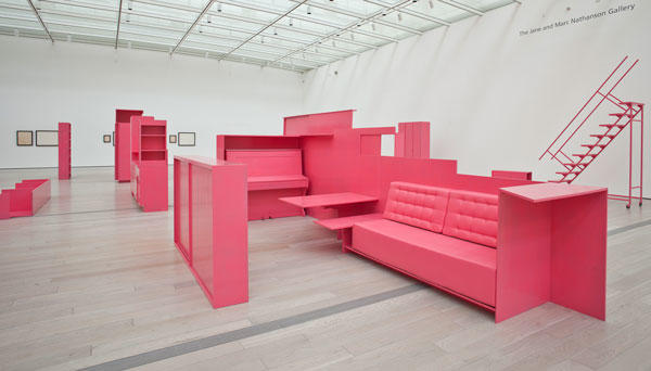 Stephen Prina: As He Remembered It, 2013, Los Angeles County Museum of Art, installation view.