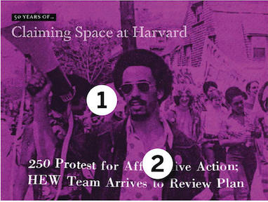 Claiming Space at Harvard Card 1