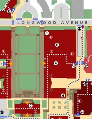 Image clip of the Longwood Accessibility Map