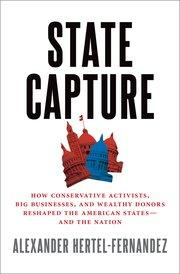 State capture book cover featuring multiple red state houses
