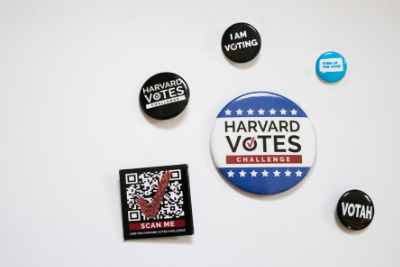 Harvard Votes Challenge Buttons (Pins)