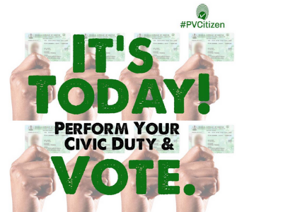 A post from PVCitizen encourages voters to cast a ballot in the 2019 election in Nigeria