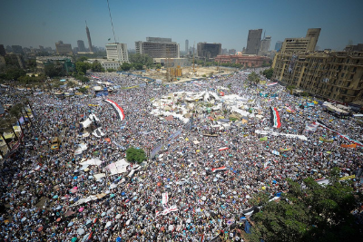 Crowds fill Tahrir Square in Egypt in 2011