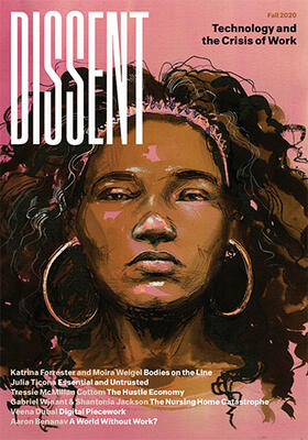 magazine cover with a drawing of a black woman on a pink background