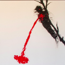 painting of man bleeding