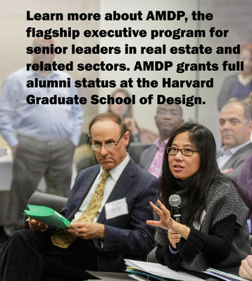AMDP faculty co-chairs Rick Peiser and Bing Wang