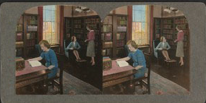 1940 stereoscopic view of Radcliffe