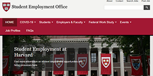 Student Employment Office Website screenshot
