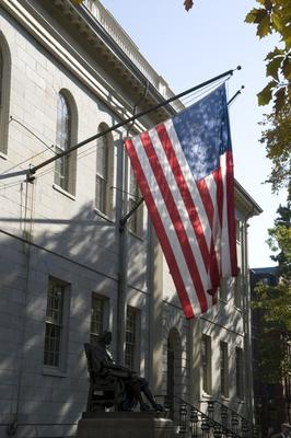 U.S. Flag on University Hall