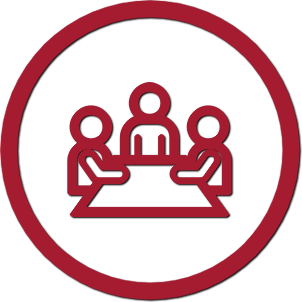 icon showing a meeting