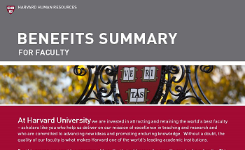 faculty benefits summary image