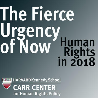 Fierce Urgency of Now speaker series