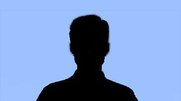 A silhouette of a person
