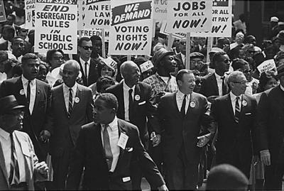 "Rowland Scherman for USIA - U.S. National Archives and Records Administration, ""1963 March on Washington"" Public Doma"