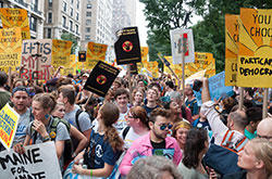 Young people at the Peoples Climate March