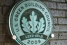 Rockefeller Hall LEED certification plaque