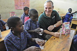 HDS alum Rick Santos, CEO of IMA World Health, in Haiti