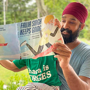 simran jeet singh reading book