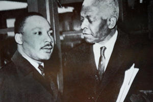 Benjamin Mays with Martin Luther King, Jr.