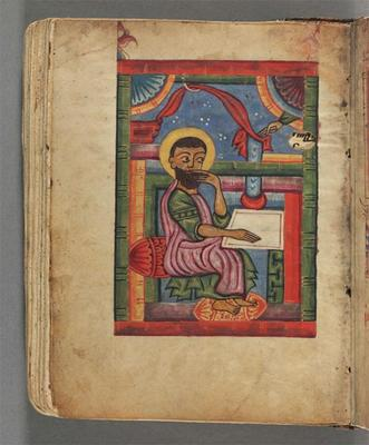 image of mark the evangelist from the Armenian manuscript gospels
