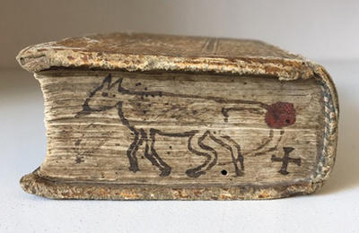 Rare book with sketch of a dog.
