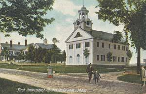 Postcard of North Orange, Mass., Universalist Church.