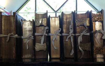 Row of large family bibles with gilt edges